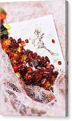 Canvas Print featuring the photograph Amber #8925 by Andrey  Godyaykin