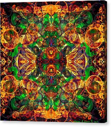 Amber Burst. Canvas Print
