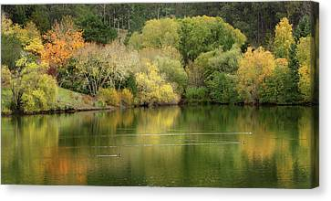 Canvas Print featuring the photograph Amber Days Of Autumn by Marion Cullen