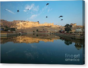 Canvas Print featuring the photograph Amber Fort  by Yew Kwang