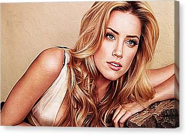 Amber Heard Canvas Print by Iguanna Espinosa
