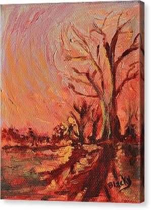 Amber Skies Canvas Print