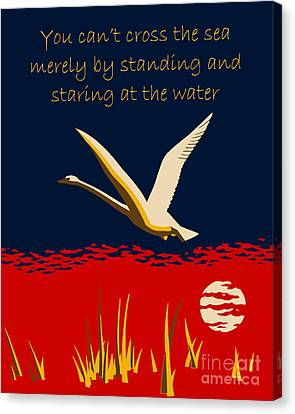 Ambition Or Trumpeter Swan Canvas Print by Aapshop
