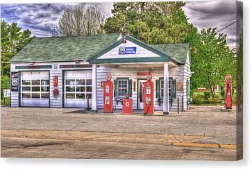 Ambler's Texaco Gas Station Canvas Print