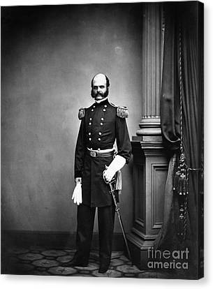 Ambrose Burnside, Union General Canvas Print by LOC/Photo Researchers