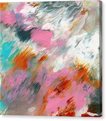 Abstract Expressionist Canvas Print - Ambrosia 2- Abstract Art By Linda Woods by Linda Woods