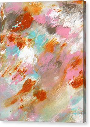 Abstract Expressionist Canvas Print - Ambrosia- Abstract Art By Linda Woods by Linda Woods