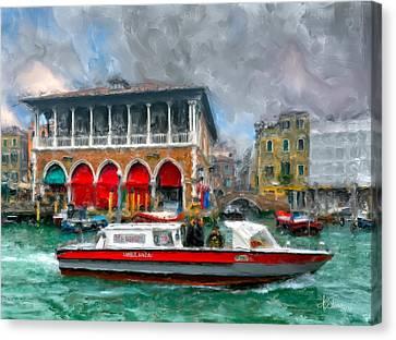 Canvas Print featuring the photograph Ambulanza. Venezia by Juan Carlos Ferro Duque