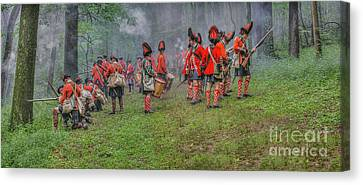 Ambush In The Forest Canvas Print by Randy Steele
