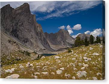 Canvas Print featuring the photograph Ambush Peak by Peter Skiba