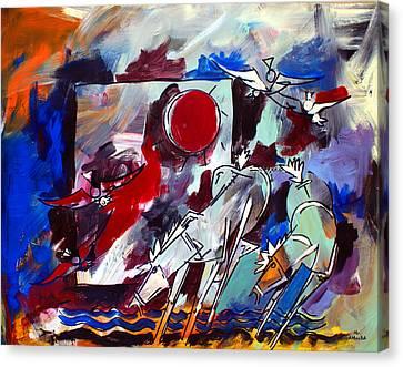 Ameeba 36-horses By The Sea 2 Canvas Print