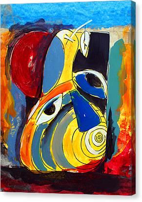 Ameeba 41- Pear Face Canvas Print