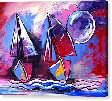 Ameeba- Sailboats 2 Canvas Print