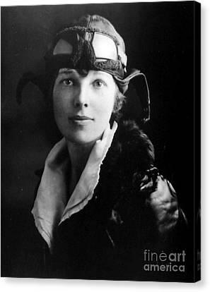 Amelia Earhart, American Aviatrix Canvas Print