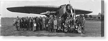 Amelia Earhart Washington Dc Airfield Canvas Print by Panoramic Images