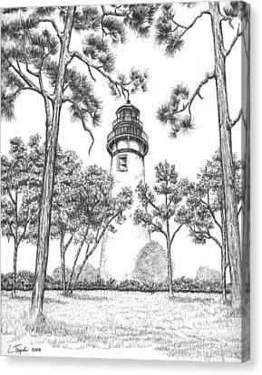 Amelia Island Lighthouse Canvas Print by Lawrence Tripoli