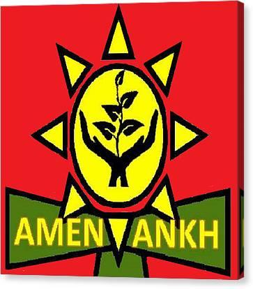 Amen Ankh Sunset Canvas Print