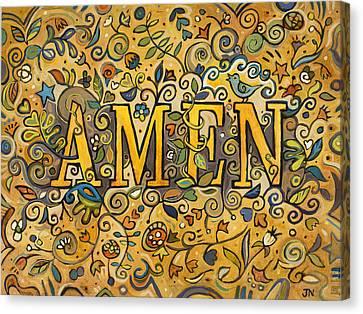 Amen Canvas Print