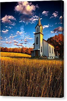 Autumn Leaf Canvas Print - Amen by Phil Koch