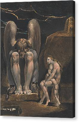 America. A Prophecy, Plate 1, Frontispiece Canvas Print by William Blake
