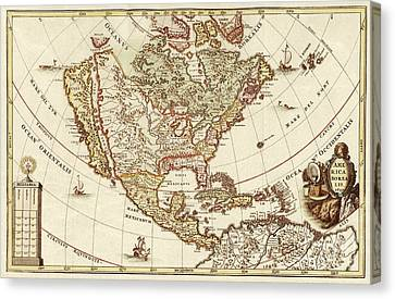 America Borealis 1699 Canvas Print