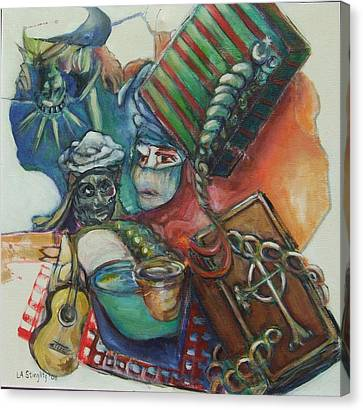 America In Chains Canvas Print by Lee Anne Stieglitz