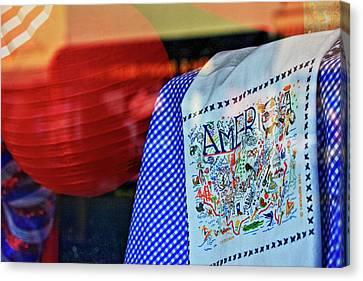America In Stitches Canvas Print