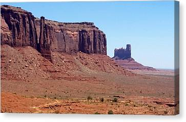 To Dominate Canvas Print - America - Sentinel Mesa by Jeffrey Shaw