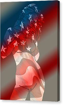 America Canvas Print by Tbone Oliver
