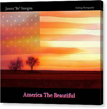 America The Beautiful Country Poster Canvas Print by James BO  Insogna