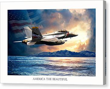 America The Beautiful Canvas Print by Regina Femrite