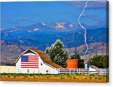 Barn Canvas Print - America The Beautiful by James BO  Insogna
