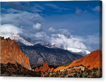 Canvas Print featuring the photograph America The Beautiful by Tim Reaves