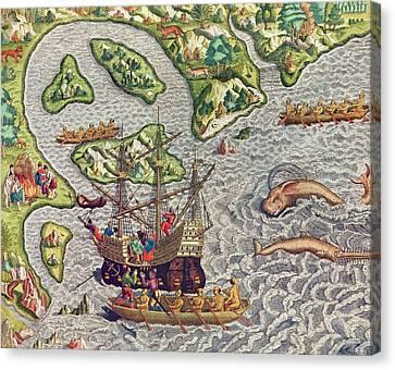 Americae Tertia Pars Canvas Print by Theodore de Bry