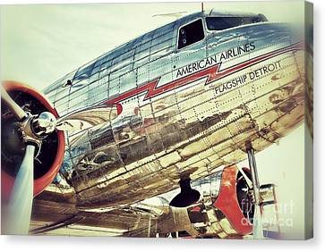 American Airlines Canvas Print by AK Photography