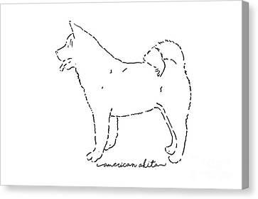 American Akita Sketch Canvas Print