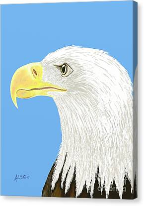 4th July Canvas Print - American Bald Eagle by Stacy C Bottoms