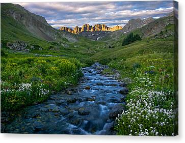Canvas Print featuring the photograph American Basin Stream by Aaron Spong