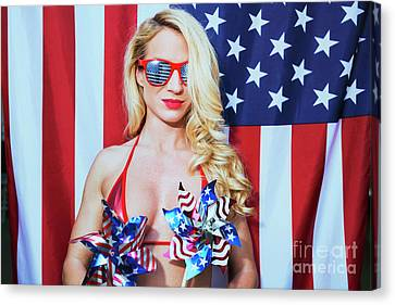 American Beauty No9034 Canvas Print by Amyn Nasser