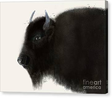 Canvas Print featuring the painting American Buffalo by Bri B