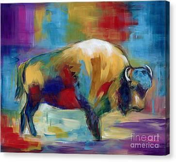 Canvas Print - American Buffalo by Marilyn Dunlap
