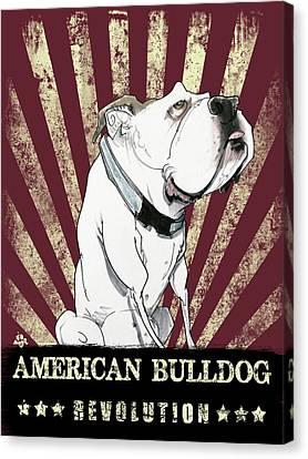 Canvas Print - American Bulldog by John LaFree