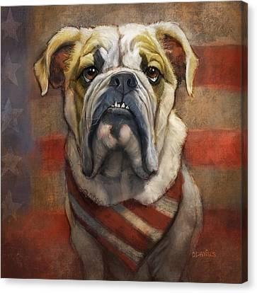 American Bulldog Canvas Print by Sean ODaniels