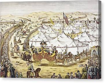 American Circus, C1874 Canvas Print by Granger