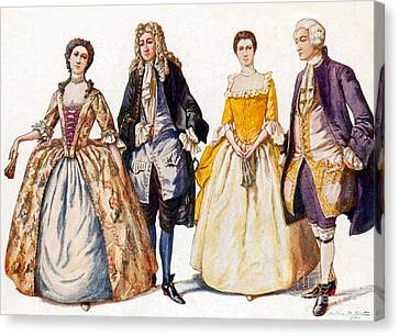 American Colonial Fashion, 18th Century Canvas Print by Science Source