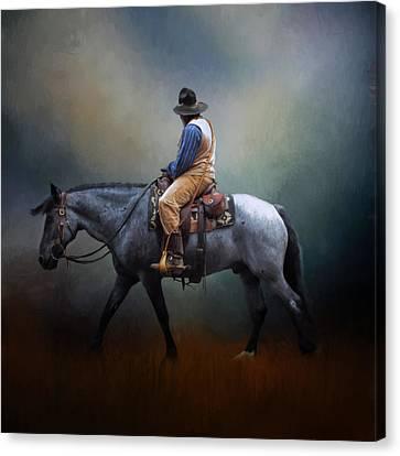 American Cowboy Canvas Print