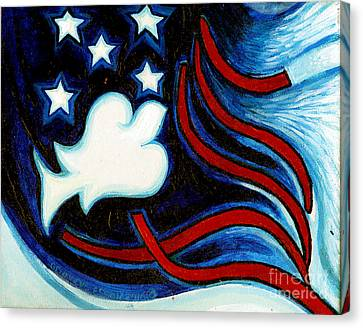 Canvas Print featuring the painting American Dove by Genevieve Esson