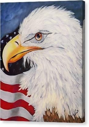 American Eagle Canvas Print by Joni McPherson