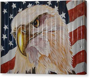 American Eagle Canvas Print by Patty Sjolin