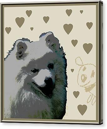 American Eskimo Canvas Print by One Rude Dawg Orcutt
